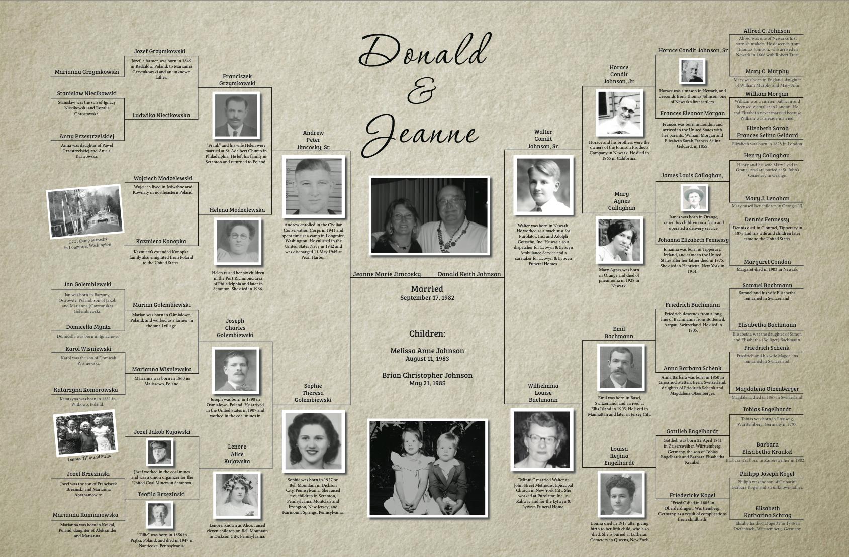 family tree charts johnson genealogy services